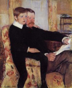 Mary Cassatt, Portrait d'Alexander Cassatt et son fils, Robert Kelso Cassatt, 1884, Philadelphia Museum of Art