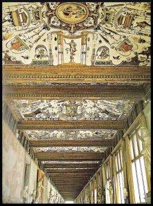 Plafond des galeries du musée des Offices de Florence